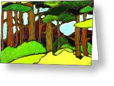 Northern Pathway Greeting Card