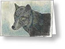 Northern Wolf Greeting Card