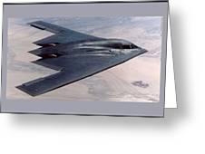 Northrop Grumman B-2 Spirit Stealth Bomber With Double Border Greeting Card