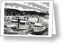 Gig Harbor Yacht Moorage Greeting Card
