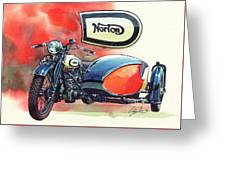 Norton Side Car Greeting Card