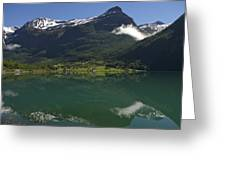 Norway, Briksdal Glacier At Jostedal Greeting Card by Keenpress