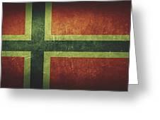 Norway Distressed Flag Dehner Greeting Card