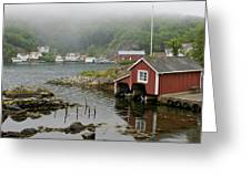 Norway, Fishing Village Greeting Card