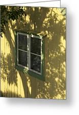 Norway, Sandvig, Shadow Of Tree On Wall Greeting Card