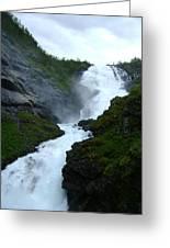 Norwegian Waterfall Greeting Card