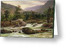Norwegian Waterfall Greeting Card