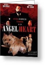 Norwich Terrier Art Canvas Print - Angel Heart Movie Poster Greeting Card