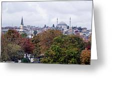 Nostalgia Of The Autumn In Istanbul Greeting Card