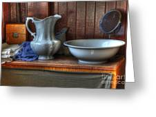Nostalgia Wash Stand Greeting Card by Bob Christopher