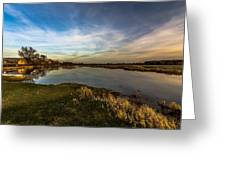 Nostalgic Landscape With Narew River  Greeting Card by Julis Simo