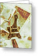 Nostalgic Mementos Of A Paris Trip Greeting Card