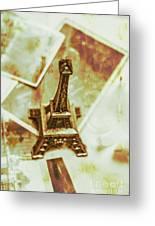 Nostalgic Mementos Of A Paris Trip Greeting Card