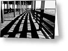 Nostalgic Walk On The Pier Greeting Card