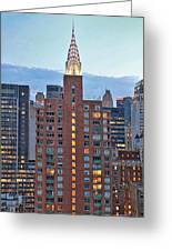 Not The Chrysler Building Nyc Greeting Card