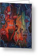 Noteworthy - A Viola Duo Greeting Card