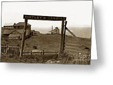 Notleys Landing Big Sur Coast By L. S. Slevin  May 1919 Greeting Card