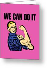 Notorious Rbg Ruth Bader Ginsburg We Can Do It Pop Art Greeting Card