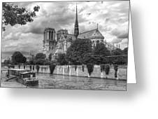 Notre Dame And Seine Greeting Card