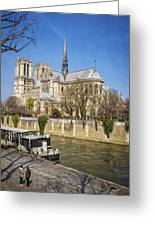 Notre Dame And The Seine Greeting Card
