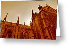 Notre Dame At Sunset Greeting Card