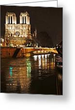 Notre Dame Bridge Paris France Greeting Card