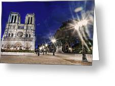 Notre Dame Cathedral Paris 2 Greeting Card