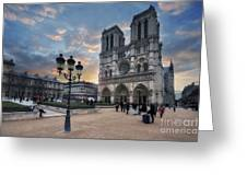 Notre Dame Cathedral Paris 2.0 Greeting Card
