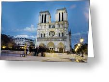 Notre Dame Cathedral Paris 3 Greeting Card