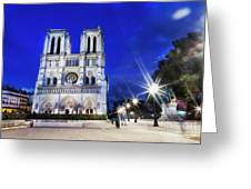Notre Dame Cathedral Paris 4 Greeting Card