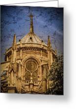 Paris, France - Notre-dame De Paris - Apse Greeting Card
