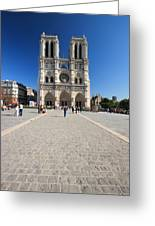 Notre Dame De Paris Cathedral Greeting Card
