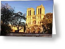 Notre Dame De Paris Facade Greeting Card