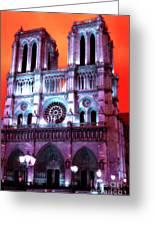 Notre Dame De Paris Pop Art 2012 Greeting Card