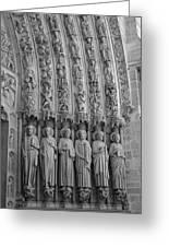 Notre Dame Doorway Detail Paris France Greeting Card