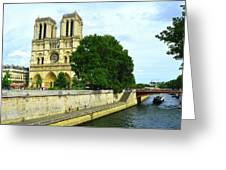 Notre Dame On The Seine Greeting Card