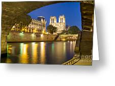 Notre Dame - Paris Night View Greeting Card