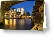 Notre Dame - Paris Night View II Greeting Card