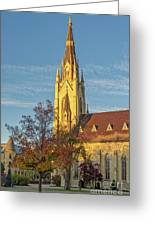 Notre Dame University Basilica Of The Sacred Heart Greeting Card
