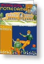 Notre Dame Versus Minnesota 1938 Program Greeting Card