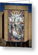 Notre Dame's Touchdown Jesus Greeting Card