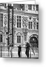Nous Sommes Charlie Greeting Card