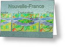 Nouvelle-france Mug Shot Greeting Card