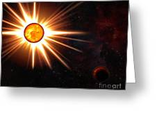 Nova And Dead Star Greeting Card