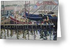 Nova Scotia Boats At Rest Greeting Card