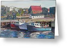 Nova Scotia Boats Greeting Card