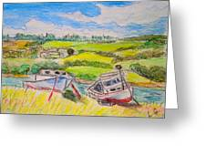 Nova Scotia Fishing Boats Greeting Card