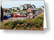 Nova Scotia Fishing Community Greeting Card