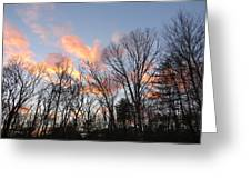 November At Twilight Greeting Card