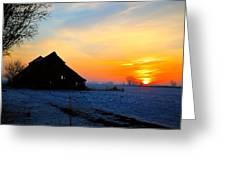 November Barn 2 Greeting Card